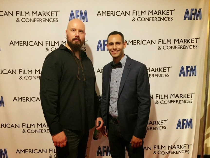 American Film Market 2014 AFM Jes Selane and Johnny Ortiz