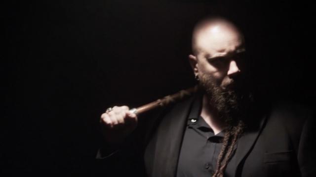 Jes Selane as Rolf The Viking Captor on set of Chosen Kin