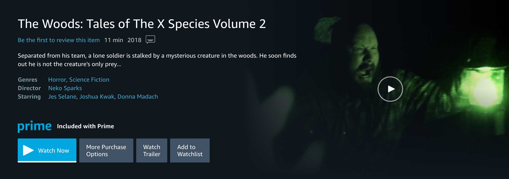 The Woods: Tales of The X Species